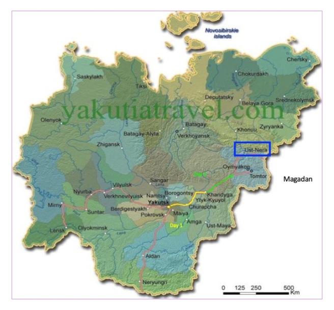 Yakut map